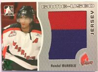 2005-06 ITG Heroes & Prospects Game-Used Jersey Kenndal McArdle Vault Green 1/1