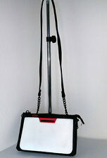 Steve Madden Chain Crossbody Red Black White Removable Compartment