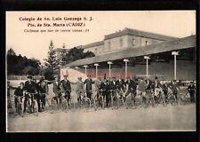 More details for spain cÁdiz colegio sn. luis gonzaga sta. maria ciclistas bicycles postcar sp155
