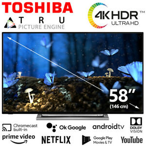 Toshiba TV 58 Zoll Fernseher TV Smart HDR 4K HD Dolby UHD Android Netflix Prime