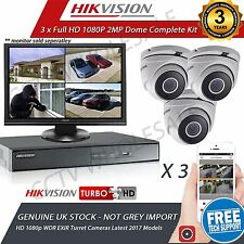 HIKVISION 4Ch Dvr & 3x HD TVI 1080p Camera's HD CCTV Camera System, 1 TB HDD