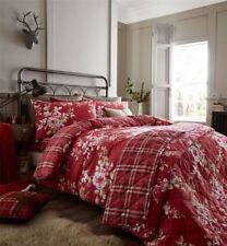Édredons et couvre-lits rouge à motif Floral