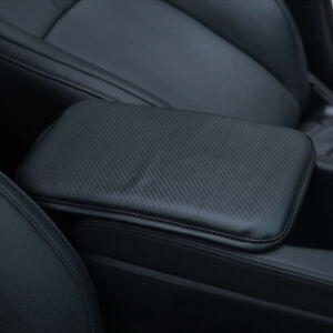 Leather Car Interior Armrest Pad Auto Center Console Mat Cushion Cover Protector