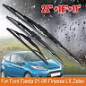 Front & Rear Windscreen Wiper Blades For Ford Fiesta 2001-2008 Finesse LX