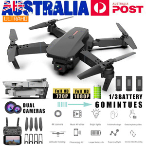 RC Drone 1080P Pro HD Wide Angle Camera Wifi FPV Live foldable Quadcopter