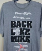NIKE AIR JORDAN X RETRO 10 BACK LIKE MIKE SHIRT GREY BLACK RED RARE (SIZE 4XL)