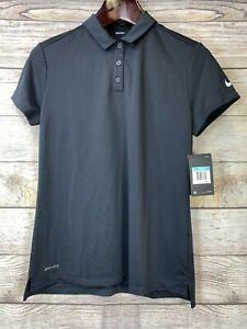 NEW Nike DriFit Golf Polo Shirt Women's 884871-010 MSRP $55 Black Nike Golf
