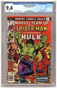 Marvel Team-Up 53 (CGC 9.4) Spider-Man Hulk 1st John Byrne X-Men Newsstand B964