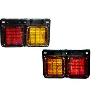 For 2002-15 Hino Kt 725 Truck Fuso Ranger Fv Fk Fm Tail Light Lamp Led Pair
