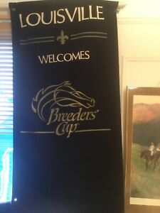 Official Louisville, KY 1988 Churchill Downs Breeders Cup Street Pole Banner