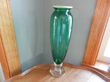 Dennis K Mullen art glass vase signed and dated 10/93