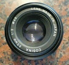 Manual Focus COSINA 50 mm f/2 Lens for Pentax K
