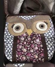 BEAUTIFUL BUTTER SOFT BROWN & DITSY FLORAL OWL BAG / CROSS BODY BAG & PURSE BNWT