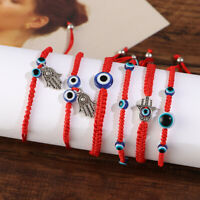 Couple Gift Lucky Evil Eye Beaded Bracelet Weave Red Rope Bangle Braided Bangle