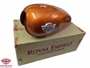 Royal Enfield Interceptor 650cc Genuine Petrol Gas Tank Orange Crush|Fit For
