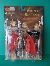 """LIGHTNING COMICS SISTERS OF DARKNESS """"PLATINUM LETHA"""" 6""""IN FIGURE SKYBOLT 1998"""