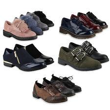 Damen Brogues Halbschuhe Trendy Profilsohle 891904 Schuhe