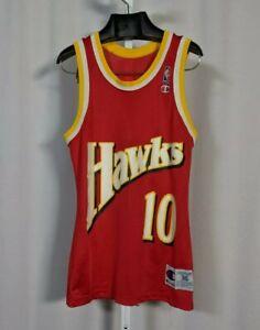 Mookie Blaylock 92-93 Atlanta Hawks Champion Jersey Size 36 XS USA