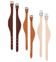 Western Set of 3 Leather Western Saddle Hobbles with Steel Hardware