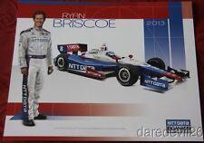 2013 Ryan Briscoe NTT Data Honda Dallara Indy 500 Indy Car postcard