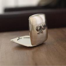 Compact Mirror Diamante Bow Metal Casing Decor Gift BRAND NEW