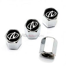 (4) Oldsmobile Aurora Logo Chrome ABS Tire/Wheel Stem Air Valve Caps Covers Set