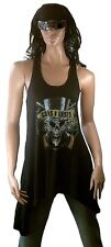 ELEGANTLY WAISTED by AMPLIFIED GUNS N'ROSES Skull Strass Designer DRESS KLEID S