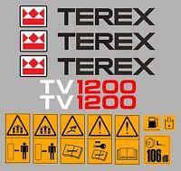 Terex tv1200 Autocollants Stickers GALET