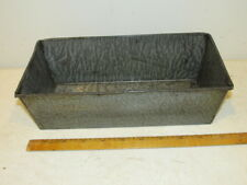 Antique Gray Graniteware Spotted Bread or Cake Loaf Pan FC