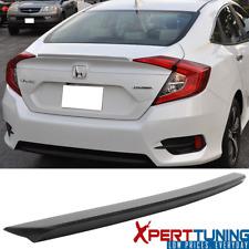 Fit 16-20 Honda Civic X 10th Sedan OE Factory Unpainted Trunk Spoiler Wing - ABS