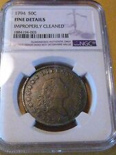 1794 Flowing Hair Half  Dollar / NGC Fine / 1ST. Year