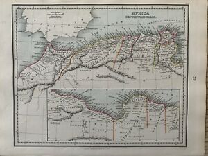1853 Ancient North Africa Hand Coloured Antique Map by Alexander Findlay