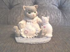 Enesco Calico Kittens I'm sew Glad You're Mine #623512 figure