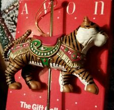 Avon Ornament Carousel Ornament Exotic Tiger
