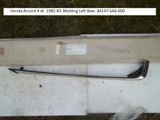 Honda Accord 4 dr. 1982-83. Molding Left Rear. 84147-SA6-000