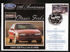 2000 FORD 75th ANNIV COV, 1991 EB FALCON S XR8