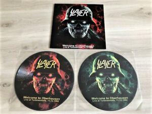SLAYER - WELCOME TO OBERHAUSEN LIM. NUM.  2LP (PIC. DISCS)   METALLICA,DEATH