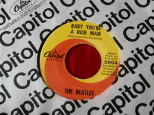 BEATLES~ BABY YOU'RE A RICH MAN~ VG++~ALL YOU NEED IS LOVE~ CAPITOL ~ POP 45