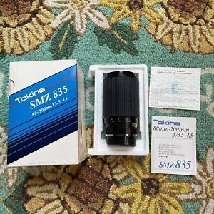 Tokina SMZ 835 80-200mm f/3.5-4.5 MF Zoom Lens Pentax P/KA Mount AI Japan