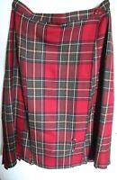 vintage st michael skirt Kilt Size 16, With Kilt Pin, Made In UK