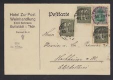 GERMANY 1922 EXPERTIZED  INFLATION POSTCARD 130 PFG RATE POSTAL CARD BUTTSTADT