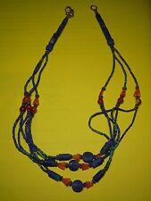 Collar LAPISLAZULI/CARNEOLA - Artesania Afgana - 48 cms - MINERAL MINERALIEN