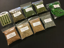 Scenic Set A - Foliage Scatter Tufts Static Grass Cork Warhammer Scenery Model