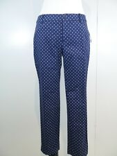 GAP Womens Sz 6 City Capri Pants Navy White Polka Dots NWT Cropped Slim