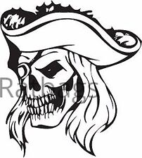 Pirate Skull Sticker 40cm x 36cm Graphic All Colours Vinyl Decal - Skull060