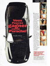 Publicité Advertising 127  1995   Slip sous vetements HOM concours Porsche