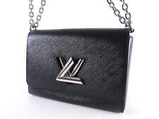 Auth LOUIS VUITTON LV Twist MM Chain Shoulder Bag Epi Noir Black M50282 A-4967