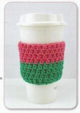 Crochet Pattern ~ Color Block Cup Cozy ~ Instructions