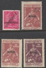 Azores Portuguese Colony Telegraph Stamps 4 diff stamps Barefoot cv $20