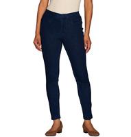 Isaac Mizrahi Live! Knit Denim Ankle Jeans Dark Indigo Color Size Petite 16